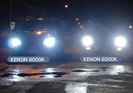 fari xenon 8000k e fari xenon 6000k