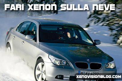 I fari xenon sulla neve