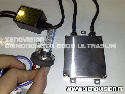 Kit Xenon DiamondMOTO Ultra Slim 2008 - Il kit Xenon per MOTO più sottile ed efficiente (solo 1,5 cm di spessore)