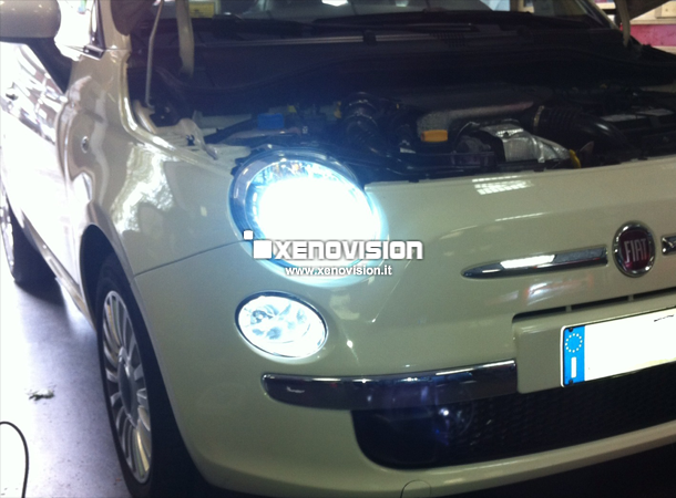 kit xenon led drl fiat 500 xenovision